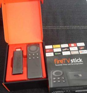 fire tv stick ausgepackt