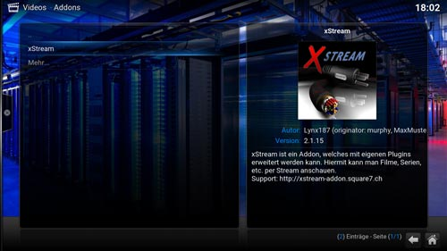 xstream stream anbieter auf kodi